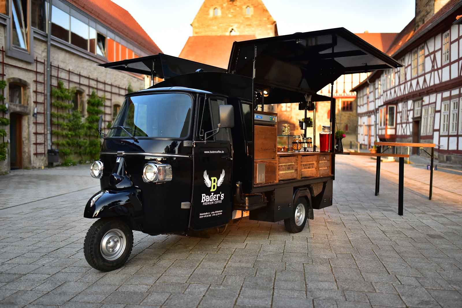 mobile kaffeebar kaufen bader 39 s coffee. Black Bedroom Furniture Sets. Home Design Ideas